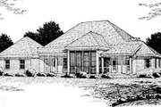 Country Style House Plan - 3 Beds 2.5 Baths 2135 Sq/Ft Plan #20-2039 Exterior - Rear Elevation