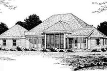 Country Exterior - Rear Elevation Plan #20-2039