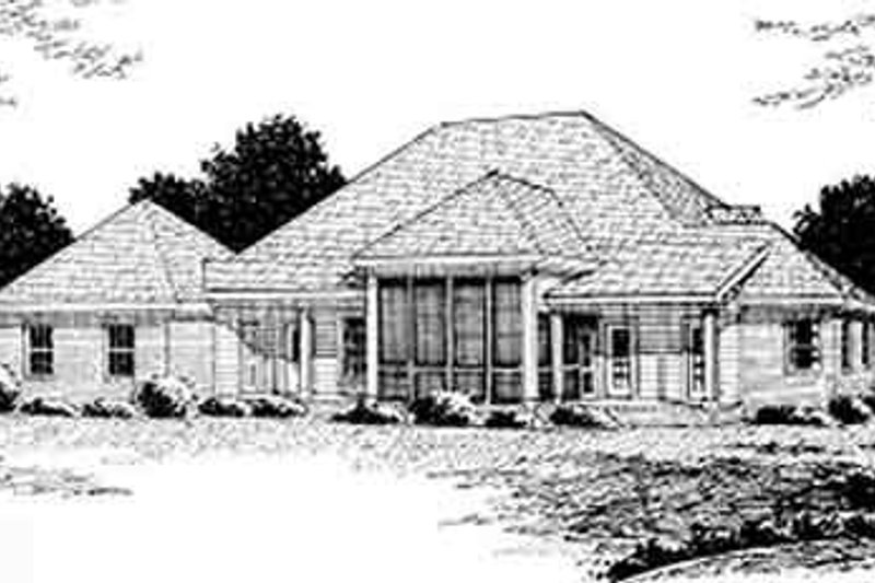 Country Exterior - Rear Elevation Plan #20-2039 - Houseplans.com