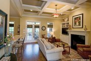 European Style House Plan - 3 Beds 2 Baths 1578 Sq/Ft Plan #929-59 Interior - Family Room