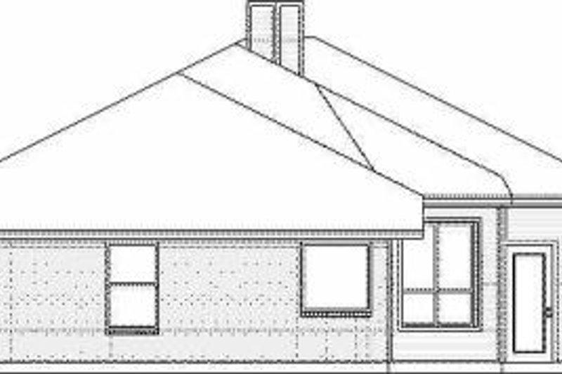 Traditional Exterior - Rear Elevation Plan #84-132 - Houseplans.com