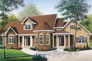 European Exterior - Front Elevation Plan #23-236