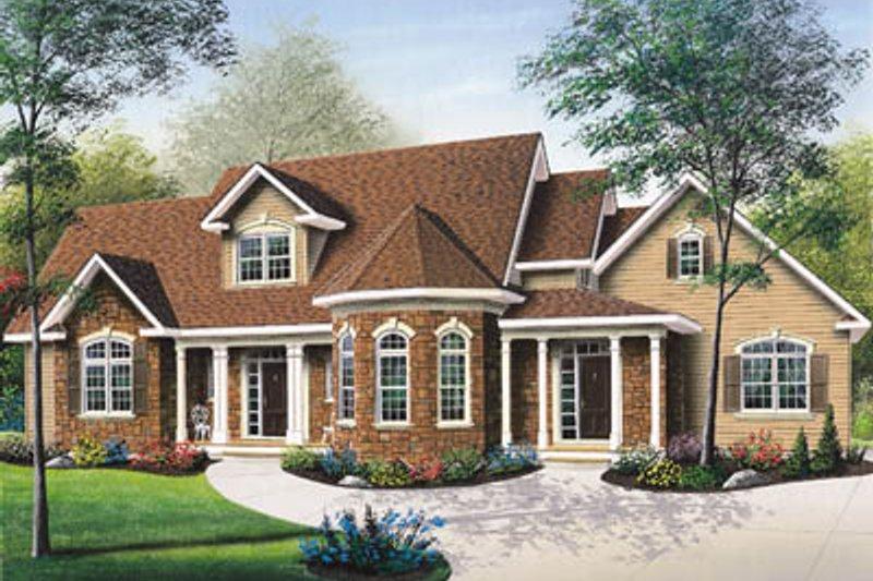 European Exterior - Front Elevation Plan #23-236 - Houseplans.com