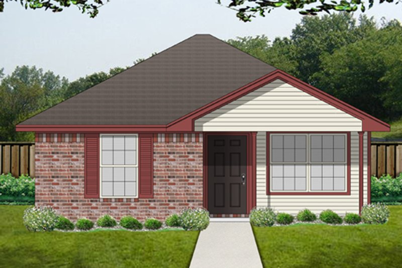 Beach Exterior - Front Elevation Plan #84-536