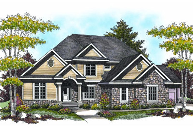 Craftsman Exterior - Front Elevation Plan #70-956