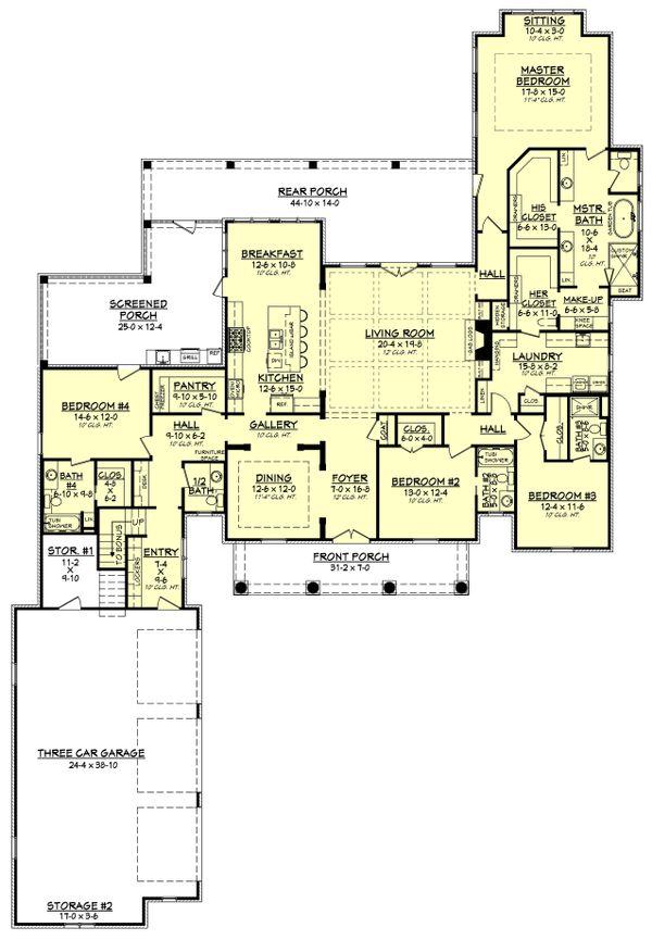 European Floor Plan - Main Floor Plan Plan #430-126