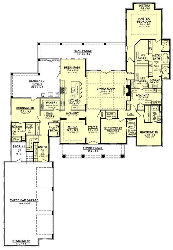 European Floor Plan - Main Floor Plan Plan #430-126