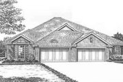 Traditional Style House Plan - 3 Beds 2 Baths 3994 Sq/Ft Plan #310-473 Exterior - Front Elevation