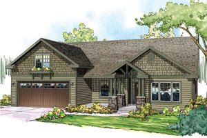 Dream House Plan - Craftsman Exterior - Front Elevation Plan #124-867