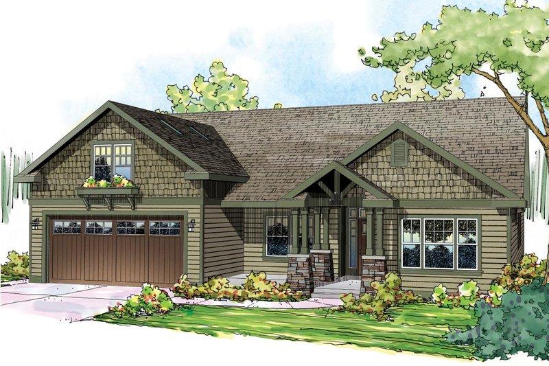 Craftsman Exterior - Front Elevation Plan #124-867 - Houseplans.com