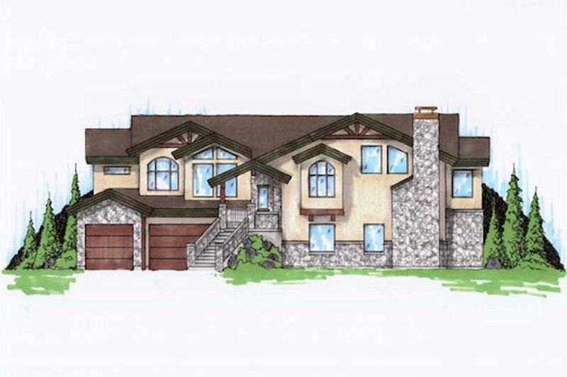 House Plan Design - Traditional Exterior - Front Elevation Plan #5-219
