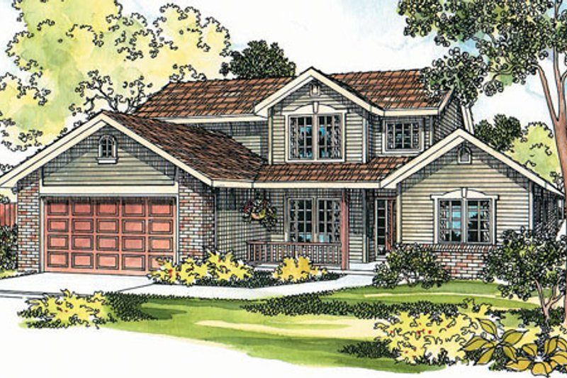 Traditional Exterior - Front Elevation Plan #124-347 - Houseplans.com