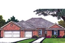 Dream House Plan - Traditional Exterior - Front Elevation Plan #310-690
