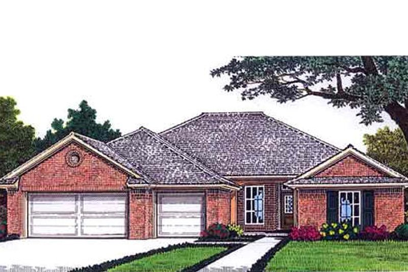 Traditional Exterior - Front Elevation Plan #310-690 - Houseplans.com
