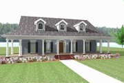 Country Style House Plan - 3 Beds 2.5 Baths 2337 Sq/Ft Plan #44-182 Exterior - Front Elevation