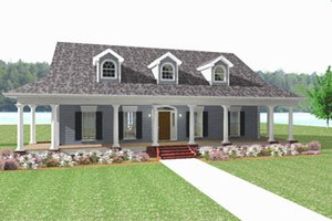 Country Exterior - Front Elevation Plan #44-182