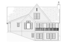 House Plan Design - Country Exterior - Rear Elevation Plan #901-1
