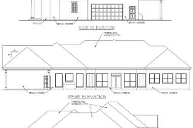 European Exterior - Rear Elevation Plan #325-218 - Houseplans.com