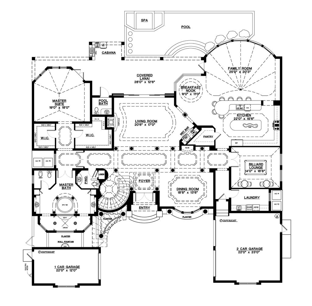 Mediterranean Style House Plan 5 Beds 5 5 Baths 6045 Sq Ft