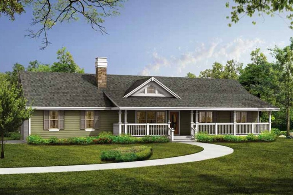Ranch Style House Plan - 3 Beds 2 Baths 1408 Sq/Ft Plan #47-331 on will house, nick house, california style house, redman house, rosie house, sophie house, white beach house, old house,
