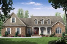 Architectural House Design - European Exterior - Front Elevation Plan #21-242