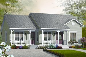 Ranch Exterior - Front Elevation Plan #23-2204