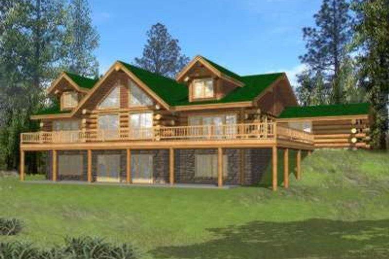 Modern Exterior - Front Elevation Plan #117-487 - Houseplans.com