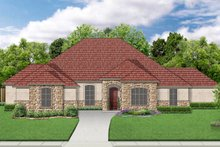 Home Plan - European Exterior - Front Elevation Plan #84-597