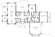 Craftsman Style House Plan - 3 Beds 2.5 Baths 3571 Sq/Ft Plan #895-3 Floor Plan - Main Floor Plan