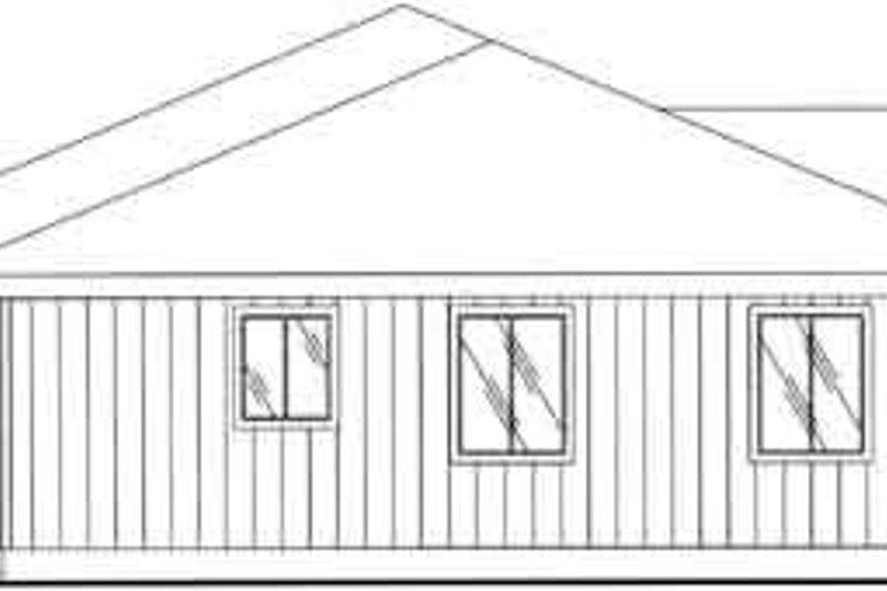 Ranch Exterior - Rear Elevation Plan #117-287 - Houseplans.com