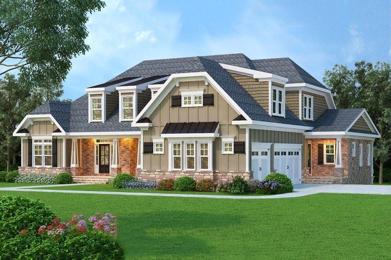 Architectural House Design - Craftsman Exterior - Front Elevation Plan #419-132