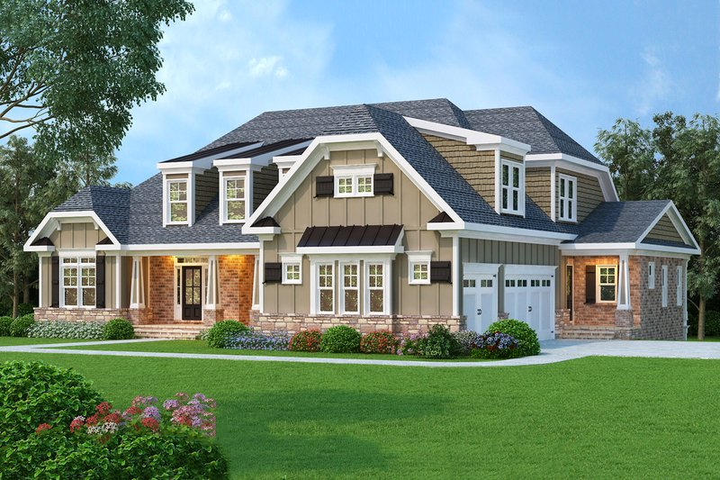 Dream House Plan - Craftsman Exterior - Front Elevation Plan #419-132