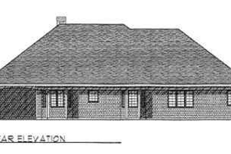 Traditional Exterior - Rear Elevation Plan #70-363 - Houseplans.com
