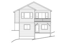 Traditional Exterior - Rear Elevation Plan #124-1046