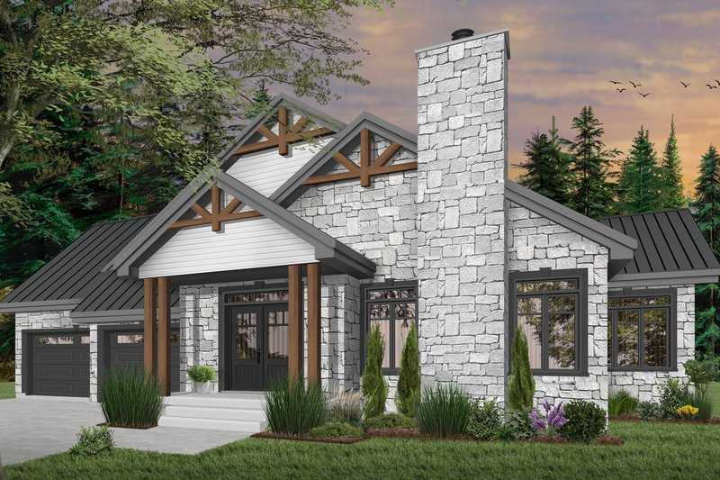 Home Plan - Traditional Exterior - Front Elevation Plan #23-2303