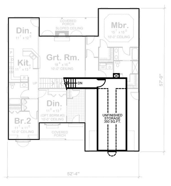 Traditional Floor Plan - Upper Floor Plan Plan #20-123