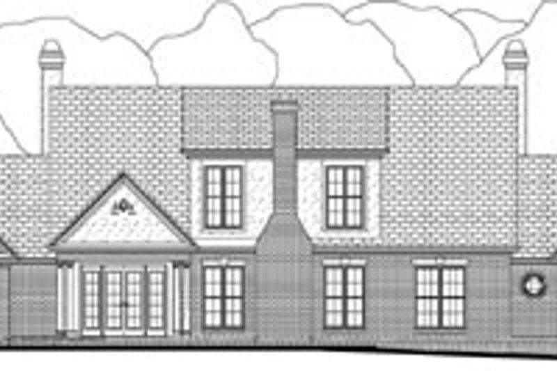 Southern Exterior - Rear Elevation Plan #406-176 - Houseplans.com