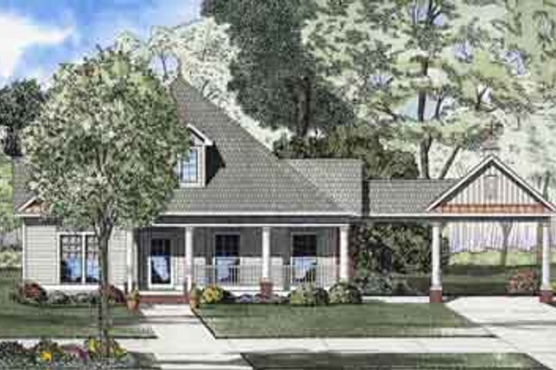 House Plan Design - Southern Exterior - Front Elevation Plan #17-2105