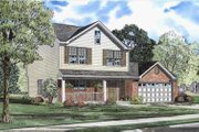 Traditional Style House Plan - 3 Beds 2.5 Baths 1677 Sq/Ft Plan #17-429 Exterior - Front Elevation