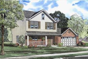 Traditional Exterior - Front Elevation Plan #17-429