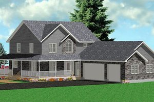 Country Exterior - Front Elevation Plan #414-124