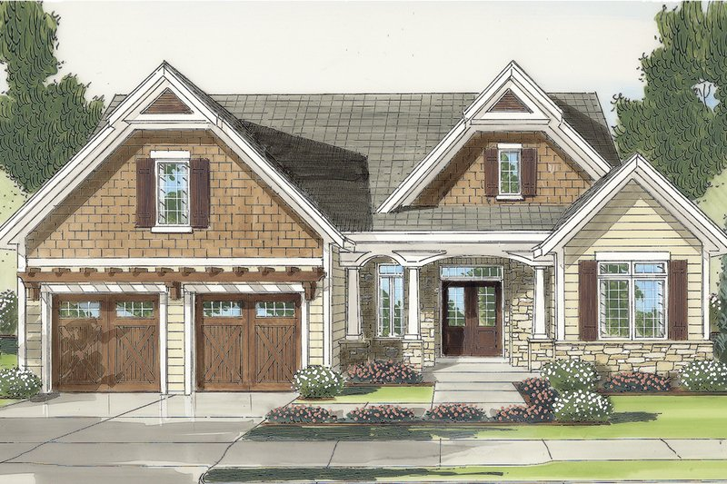 Architectural House Design - Colonial Exterior - Front Elevation Plan #46-792