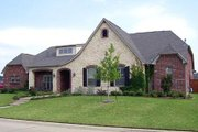 European Style House Plan - 4 Beds 3.5 Baths 3191 Sq/Ft Plan #84-281 Exterior - Front Elevation