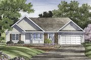 Traditional Style House Plan - 3 Beds 2 Baths 1546 Sq/Ft Plan #316-115 Exterior - Front Elevation