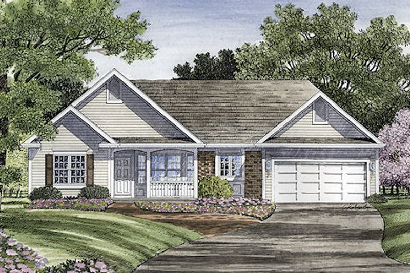 Traditional Style House Plan - 3 Beds 2 Baths 1546 Sq/Ft Plan #316-115