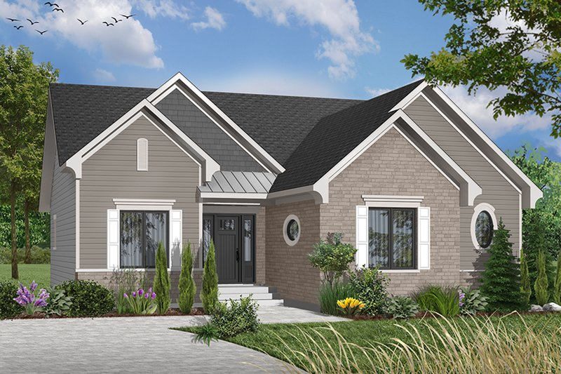 Cottage Exterior - Front Elevation Plan #23-634