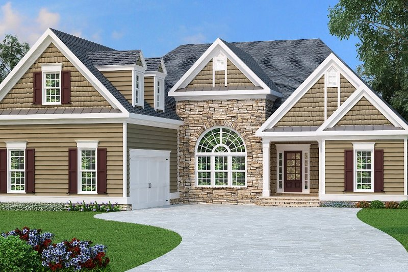 Traditional Exterior - Front Elevation Plan #419-105 - Houseplans.com