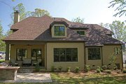 Craftsman Style House Plan - 4 Beds 4.5 Baths 3680 Sq/Ft Plan #453-14 Exterior - Rear Elevation
