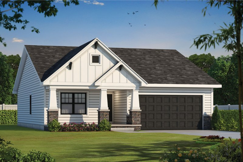 Craftsman Exterior - Front Elevation Plan #20-2390