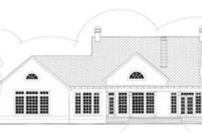Southern Exterior - Rear Elevation Plan #406-118 - Houseplans.com